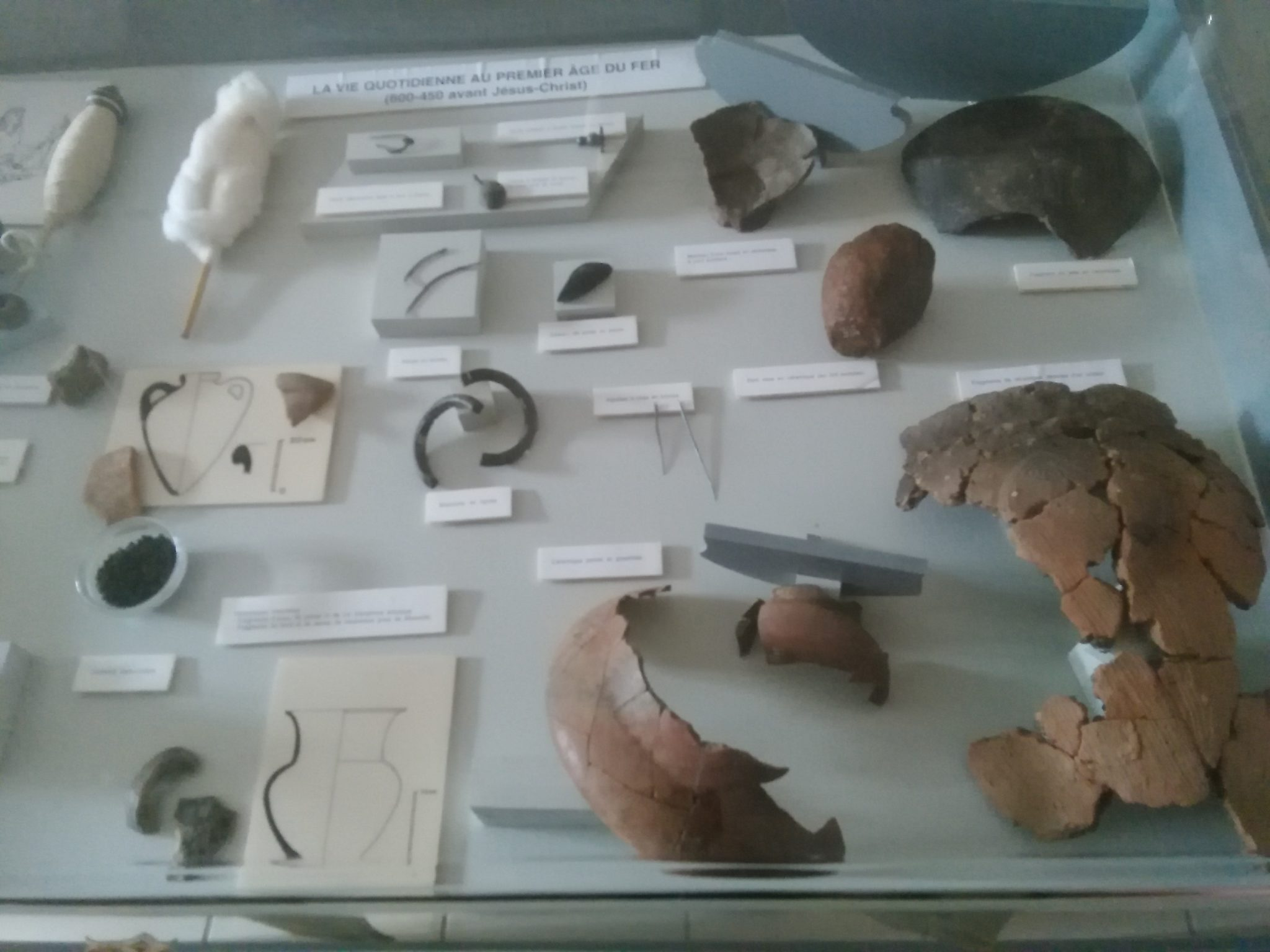 trouvé lors des fouilles à Bourguignon lès Morey
